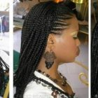 Hair plaits and braids