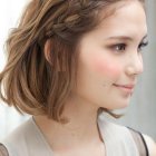 Hairstyle braids for short hair