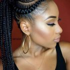 Hairstyles on braids