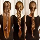 Long hair plaits