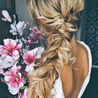 Long plaited hair