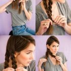 Making braids in hair