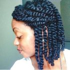 Natural hair twist