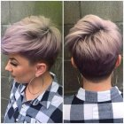 Pixie cut and color