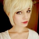 Pixie haircut with fringe