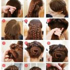 Thick hair braids