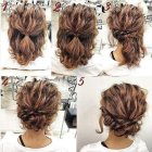 Cute updos for short hair