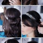 Easy hairstyles for medium length hair to do at home