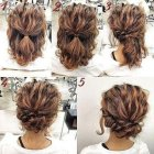 Easy updos for medium length hair