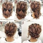 Easy wedding updos for medium hair
