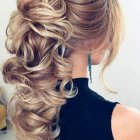 Evening updos for long hair