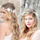 Flower crown hairstyle