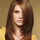 Haircut for straight hair round face