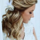 Half up half down bridal hair