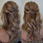Half up half down formal hairstyles