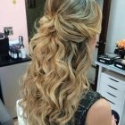 Homecoming hairstyles half up half down