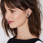 Layered hair with bangs medium length