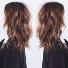 Layered wavy hair