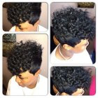 Short curly quick weave styles