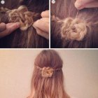 Simple and easy hairstyle