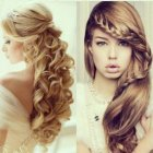 Simple evening hairstyles