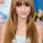 Straight hairstyles with bangs