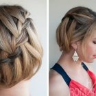 Braided updo hairstyles for short hair