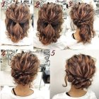Cute and easy updos for short hair