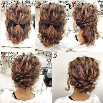 Cute casual updos for short hair