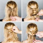 Easy at home updos for short hair