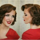 Easy pin up hair for short hair
