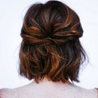 Half up half down styles for short hair