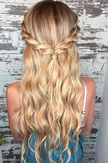 Pretty hairstyles for long hair easy