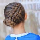 Hairstyle cute girl