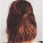 Back view of shoulder length hair