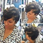 Black female short haircuts