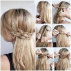 Cute easy updos for long thick hair