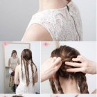 Easy updo long thick hair