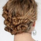 Easy updos for thick curly hair