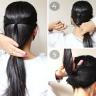Long hair updos easy casual