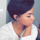 Short cut black hairstyles