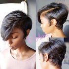 Short haircut for black female