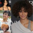 Short haircuts for black curly hair