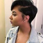 Short haircuts on black hair