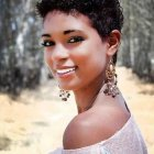 Short hairstyle for black ladies