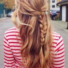 Simple daily hairstyles for long hair