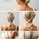 Simple updos for medium hair