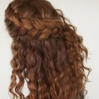 Updos for long curly thick hair