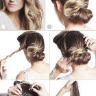 Updos for straight hair
