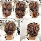 Updos for thick long hair